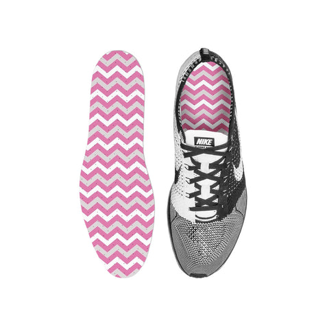 Chevron Pink Custom Insoles