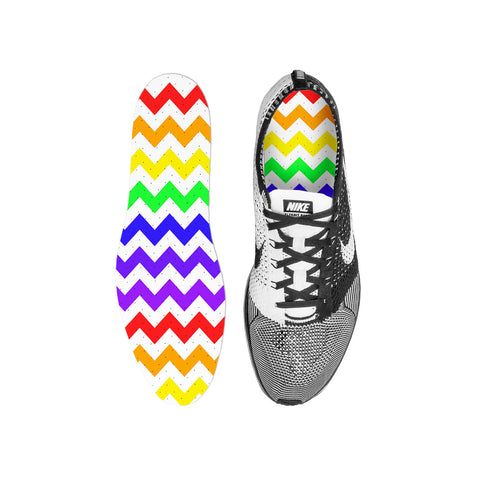 Chevron Rainbow Custom Insoles