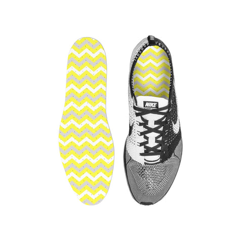 Chevron Yellow Custom Insoles
