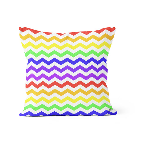 Chevron Rainbow Pillow