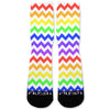 Chevron Rainbow Custom Athletic Fresh Socks