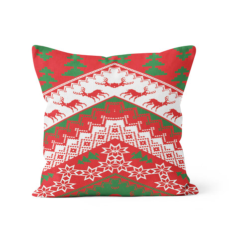 Christmas Sweater Red Pillow