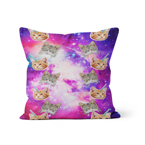 Crazy Space Cats Pillow