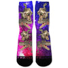 Dinosaur Galaxy Custom Athletic Fresh Socks