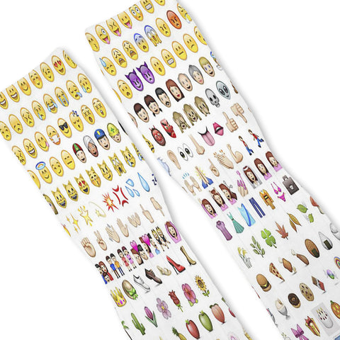 Emoji Custom Athletic Fresh Socks