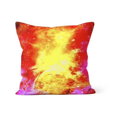 Fire Galaxy Pillow