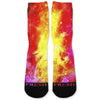 Fire Galaxy Custom Athletic Fresh Socks