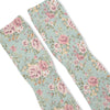 Floral Blue Custom Athletic Fresh Socks