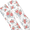 Floral White Custom Athletic Fresh Socks