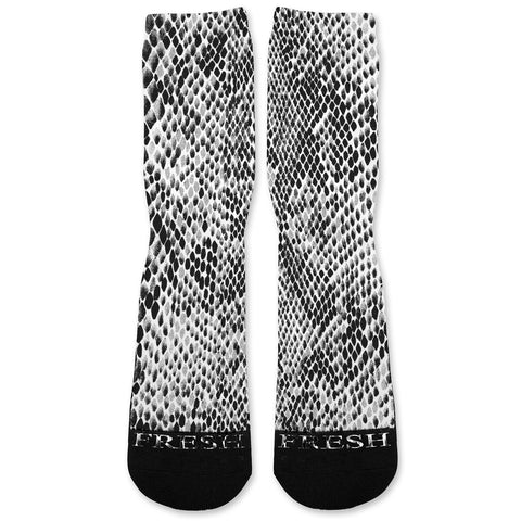 Grey Snake Skin Custom Athletic Fresh Socks