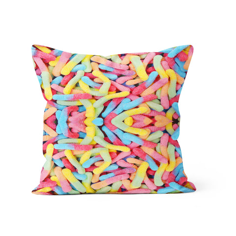 Gummy Worms Pillow