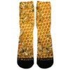 Honey Bees Custom Athletic Fresh Socks