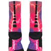 Kaboom Pink Purple Custom Nike Elite Socks