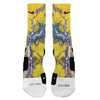 Kaboom Blue Yellow Custom Nike Elite Socks