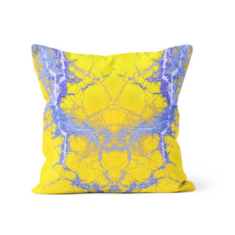 Kaboom Blue Yellow Pillow
