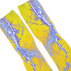 Kaboom Blue Yellow Custom Athletic Fresh Socks