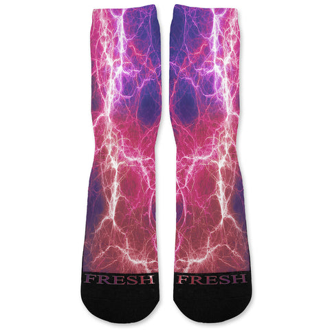 Kaboom Pink Purple Custom Athletic Fresh Socks