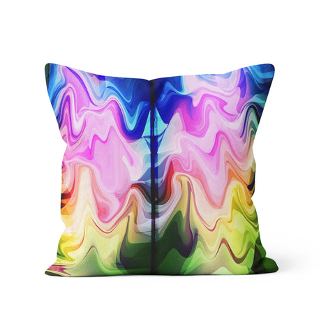Liquid Rainbow Pillow