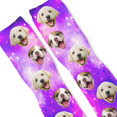 PUPPY POWER GALAXY Custom Athletic Fresh Socks