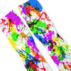 Paint Splatter White Custom Athletic Fresh Socks