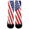 Patriotic Color USA Flag Custom Athletic Fresh Socks