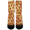 Pepperoni Pizza Custom Athletic Fresh Socks