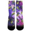 Pineapple Galaxy Custom Athletic Fresh Socks