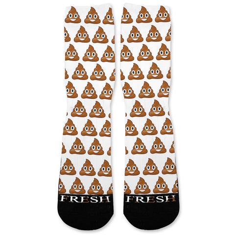Poop Emoji Custom Athletic Fresh Socks