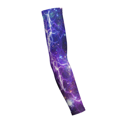 Purple Lightning Galaxy  Shooting Arm Sleeve