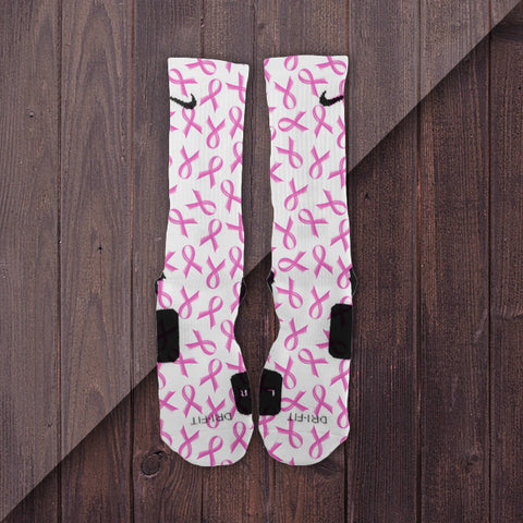 Pink Ribbon BCA Customized Nike Elite Socks