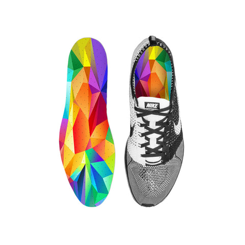 Rainbow Polygon Custom Insoles