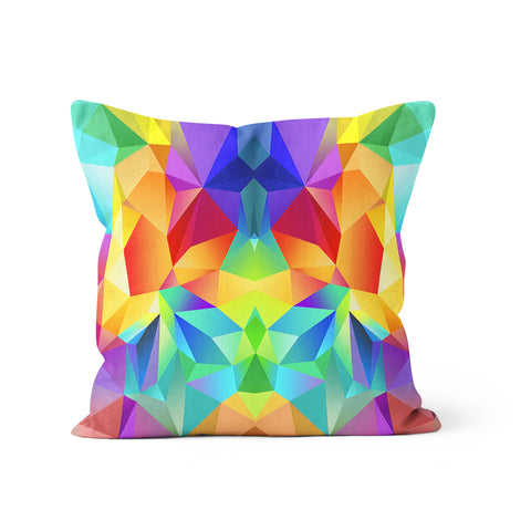 Rainbow Polygon Pillow