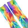 Rainbow Polygon Custom Athletic Fresh Socks