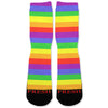 Rainbow Stripes Custom Athletic Fresh Socks