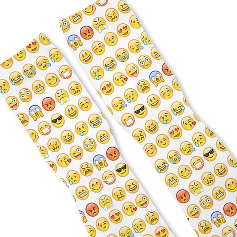 Smiley Emoji Custom Athletic Fresh Socks