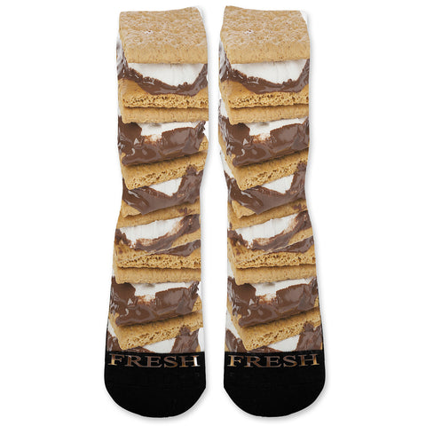 Smores Custom Athletic Fresh Socks