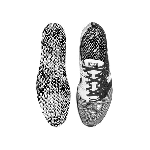 Grey Snake Skin Custom Insoles