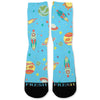 Space Galaxy Day Custom Athletic Fresh Socks