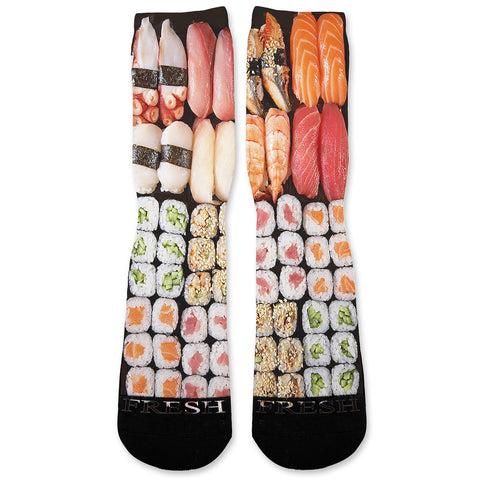 Sushi Custom Athletic Fresh Socks
