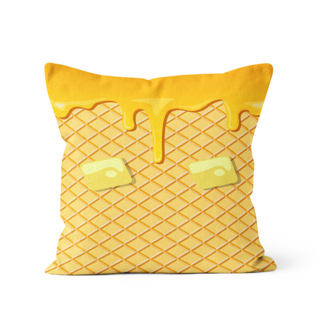 Waffle And Syrup Pillow