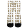 White Monkey Emoji Custom Athletic Fresh Socks