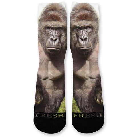 Big Harambe Gorilla Custom Athletic Fresh Socks