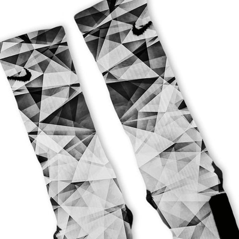 Black Prism Custom Nike Elite Socks Lebron 11 Graffiti