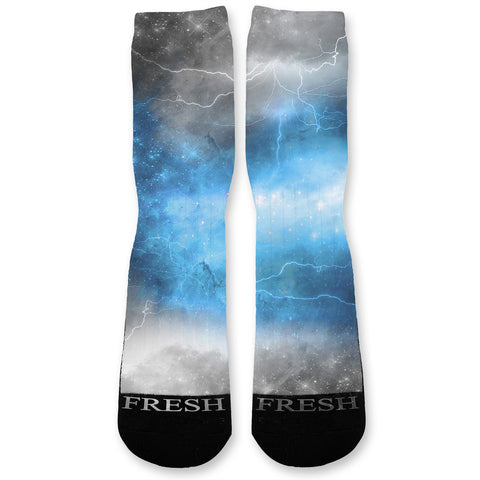 Blue Storm Custom Athletic Fresh Socks