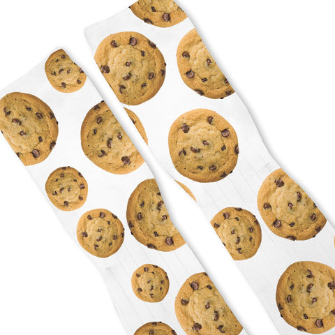 Chocolate Chip Cookie Custom Athletic Fresh Socks