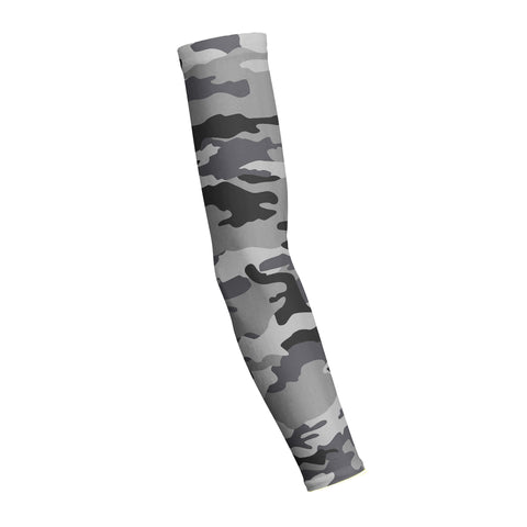 Combat Grey Snow Camo Shooting Arm Sleeve