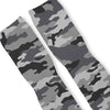 Combat Grey Snow Camo Custom Athletic Fresh Socks