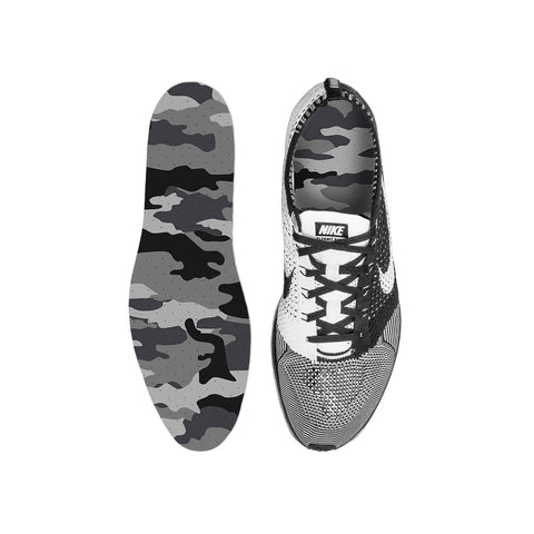 Combat Grey Snow Camo Custom Insoles