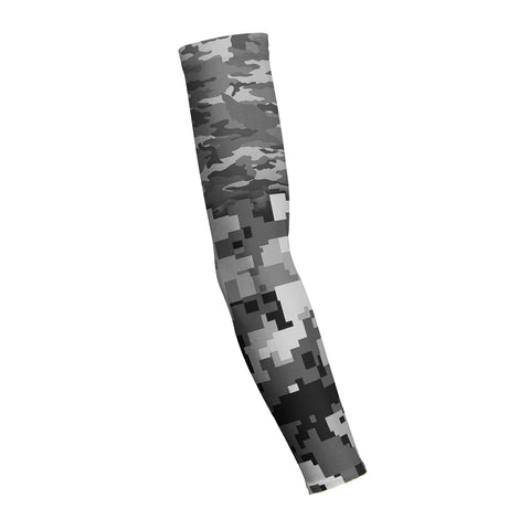 Combat Mixed Grey Camo Shooting Arm Sleeve