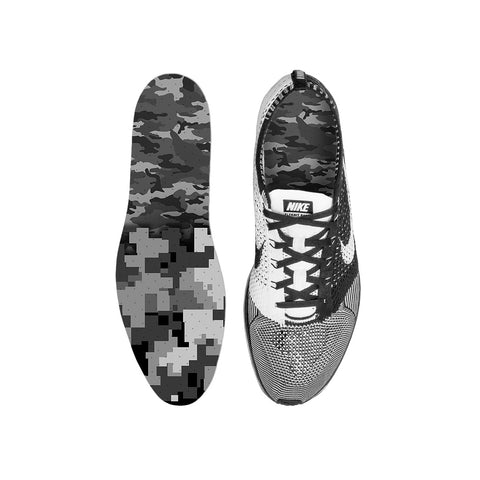 Combat Mixed Grey Camo Custom Insoles